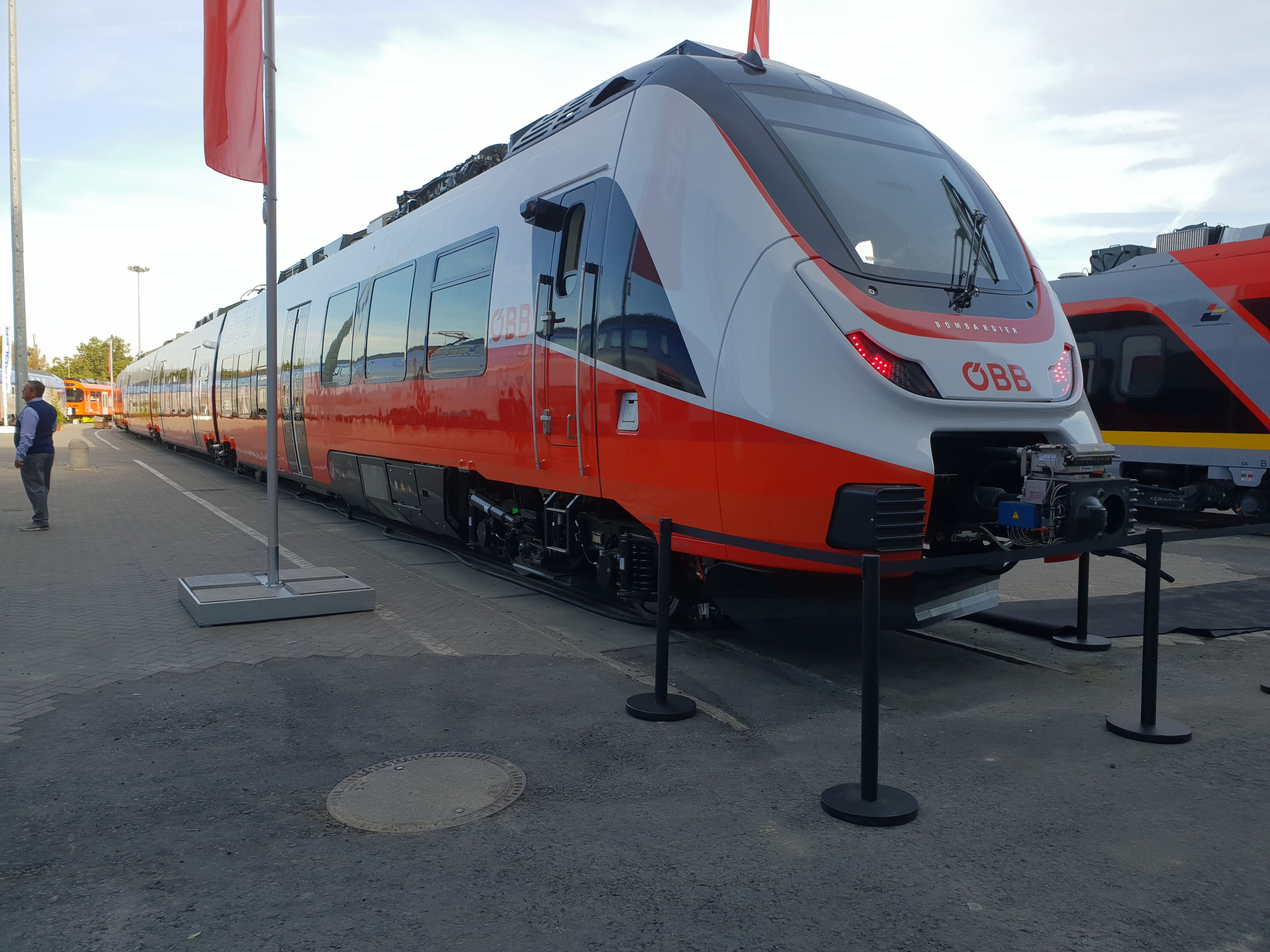 Foto: Bombardier Talent 3 der ÖBB Cityjet auf der Berliner Innotrans 2018
