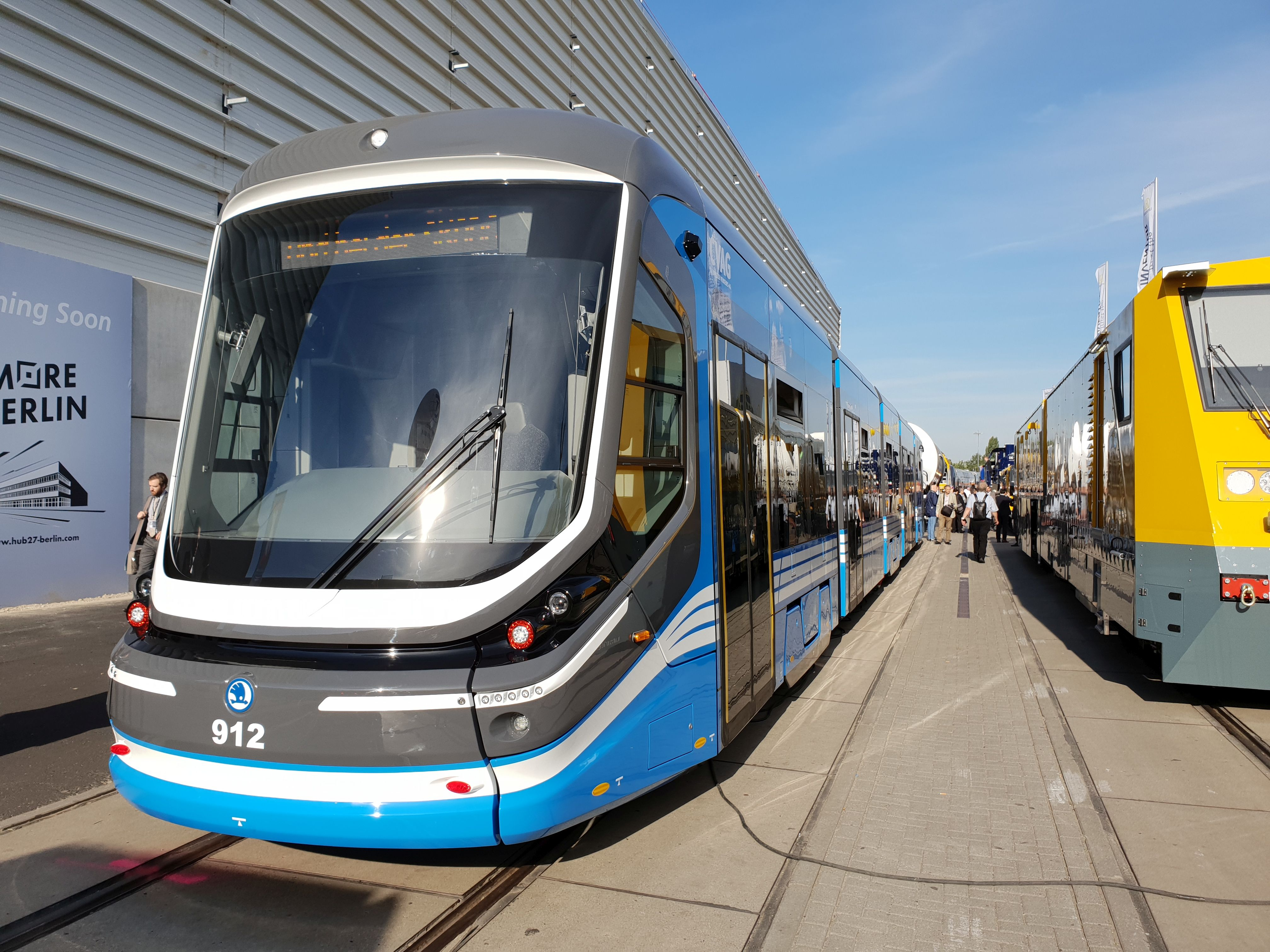 Foto: Straßenbahn ForCity Classic von Skoda für Chemnitz auf der Berliner Innotrans 2018