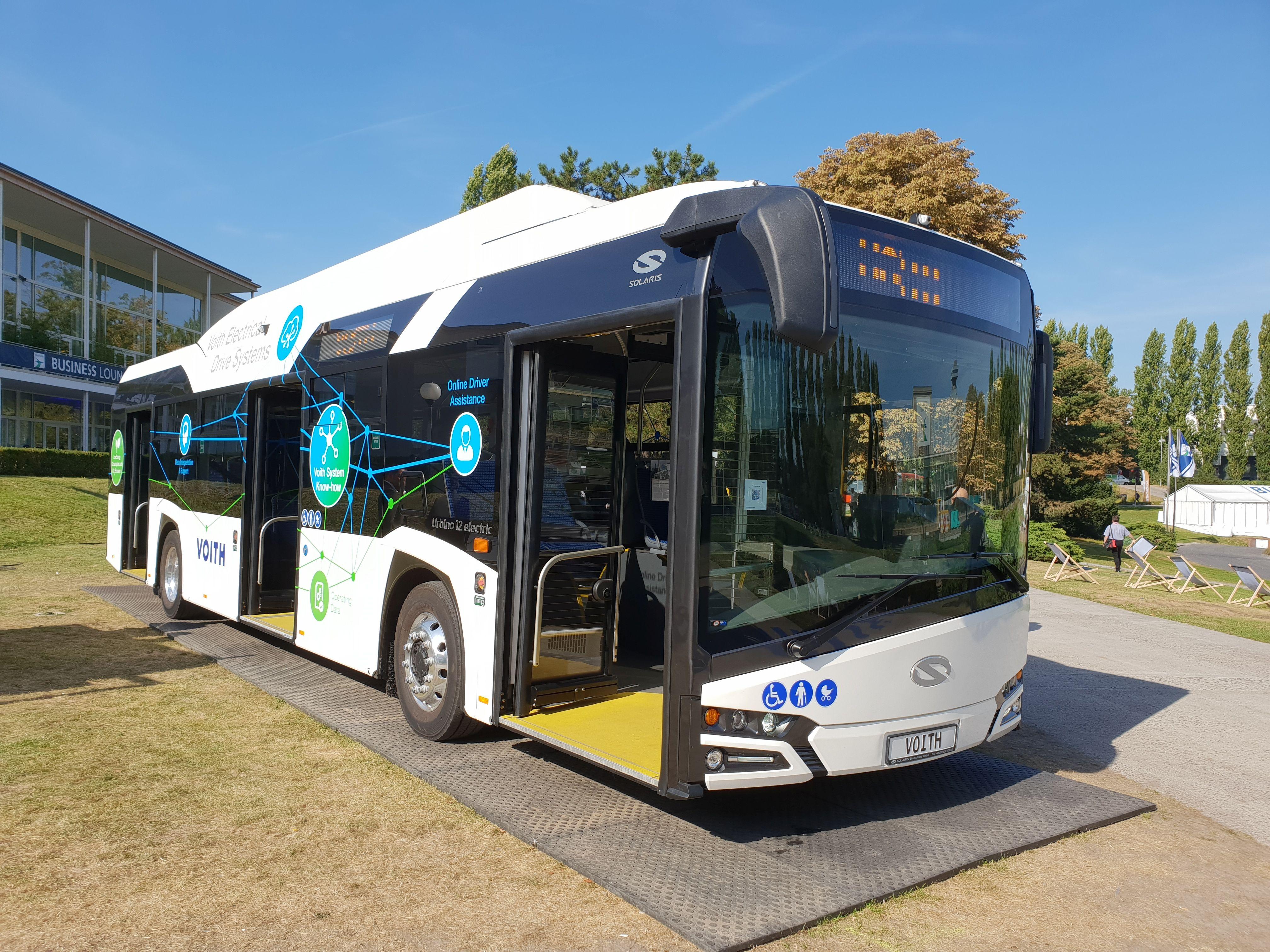 Foto: Elektrobus von Solaris und Voith auf der Berliner Innotrans 2018