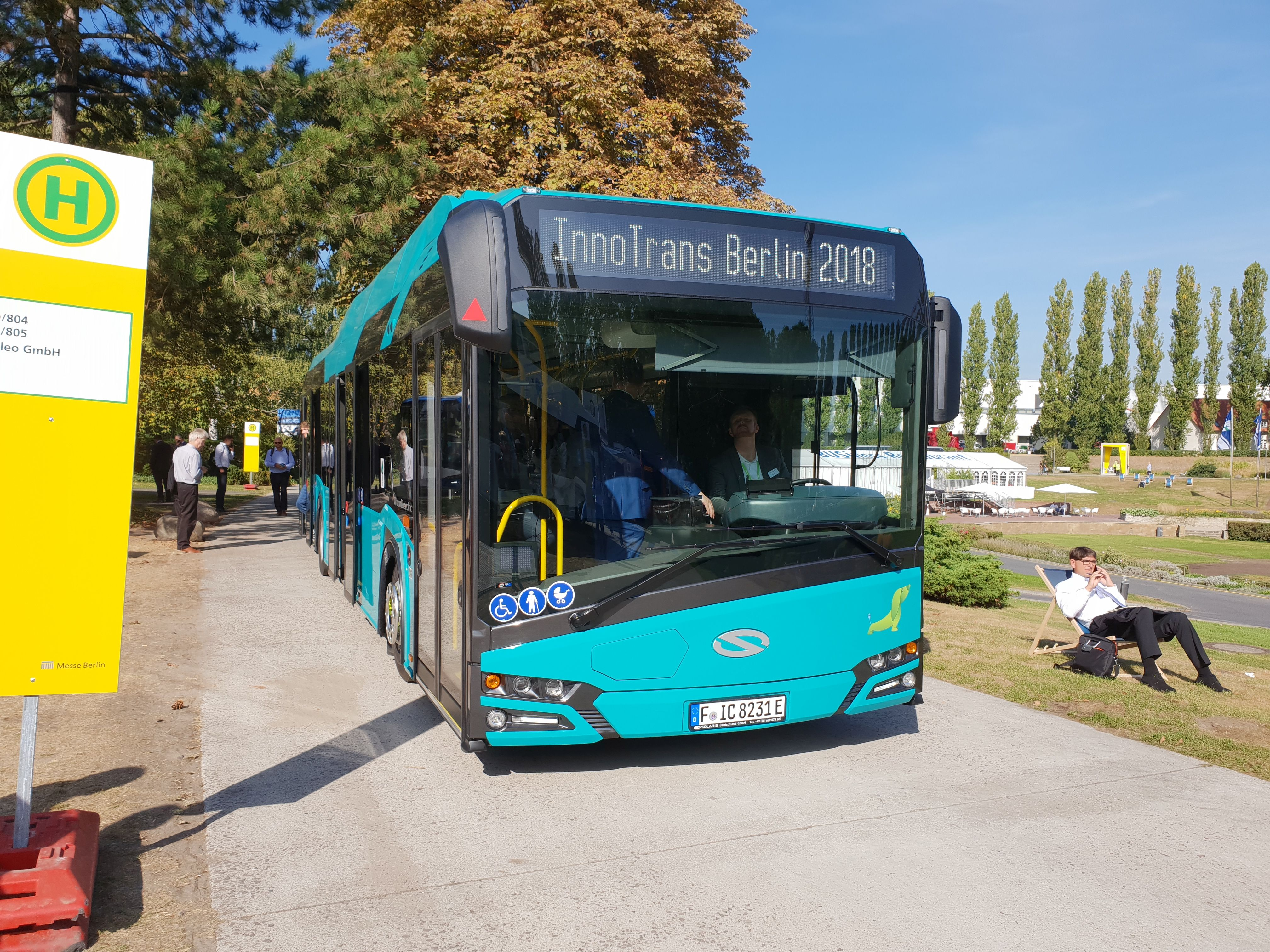 Foto: Elektrobus von Solaris auf der Berliner Innotrans 2018